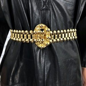 Vintage Metal Gold Link Belt
